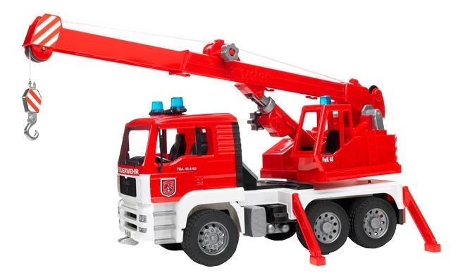 Купить Пожарная машина автокран MAN, Пожарная машина с автокраном Bruder MAN, Игрушечный транспорт Bruder