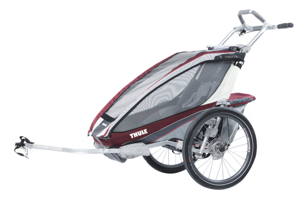 Коляска-велоприцеп Thule Chariot CX-1 бордовая