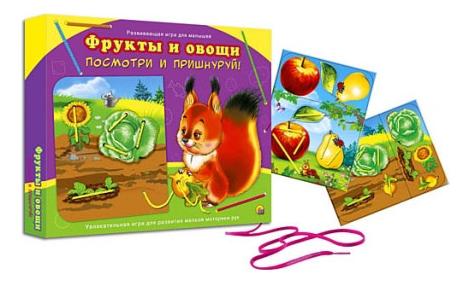 Шнуровка Проф-Пресс Фрукты и овощи