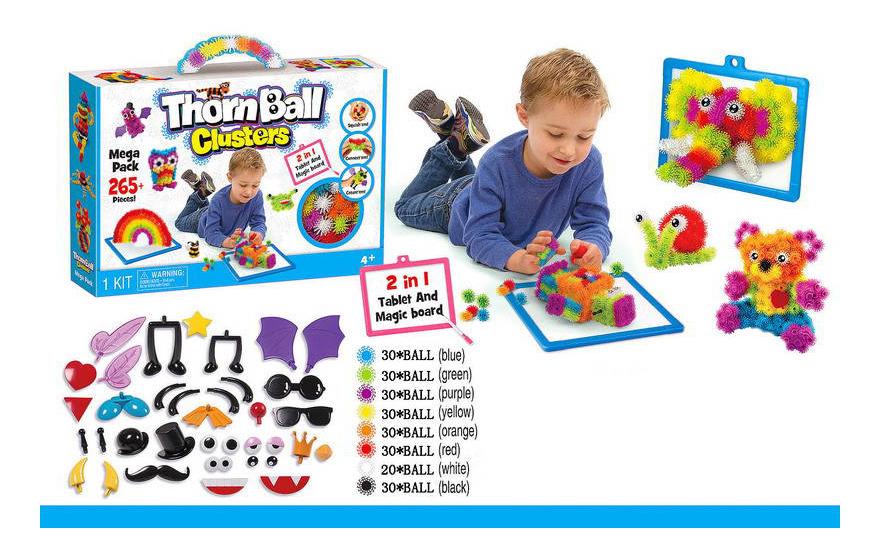 Купить Конструктор пластиковый Magic ball 265 деталей, Thorn Ball Clusters, Конструкторы пластмассовые
