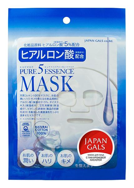 Маска для лица Japan Gals с гиалуроновой кислотой Pure 5 Essential