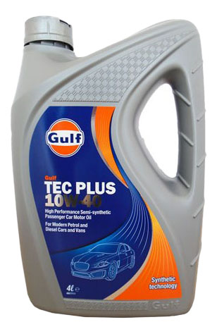 Моторное масло Gulf Tес Plus 10W-40 4л