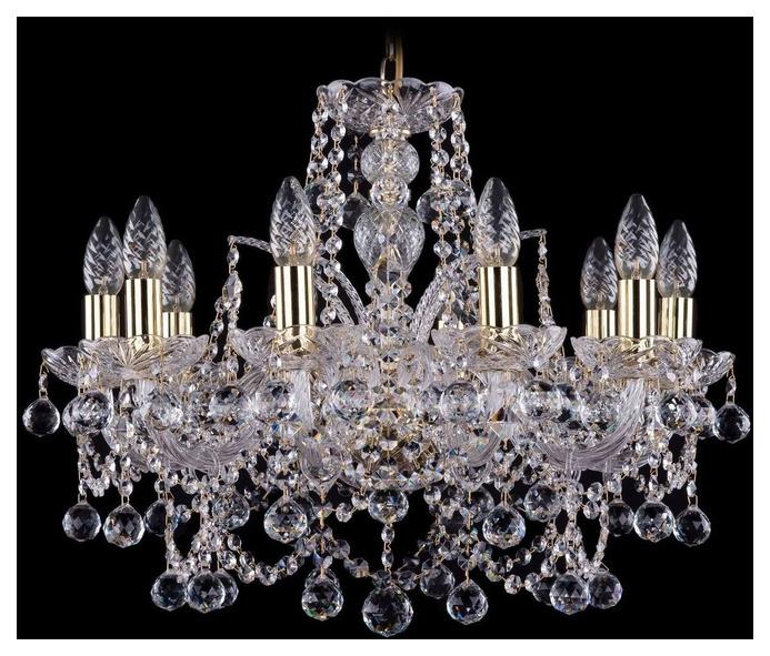 Люстра подвесная Bohemia Ivele Crystal 1411/10/195/G/Balls фото