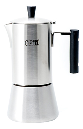 Гейзерная кофеварка GIPFEL AZZIMATO 200мл/4 чашки фото