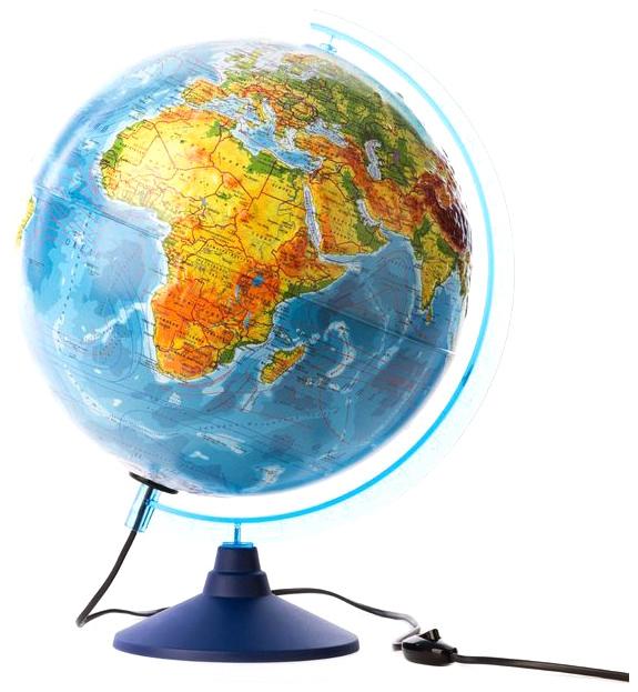 Глобус Globen Ке013200233 физико-политический рельефный 320 с подсветкой серия Евро