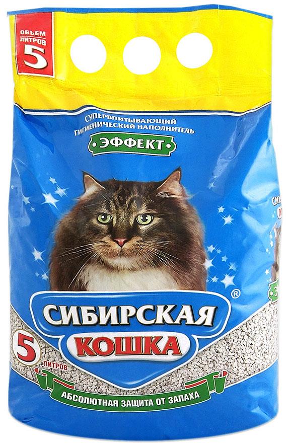 Впитывающий наполнитель для кошек Сибирская кошка Эффект