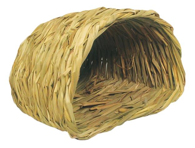 Домик для грызуна Triol стебли и травы, 13х19х21см, цвет желтый