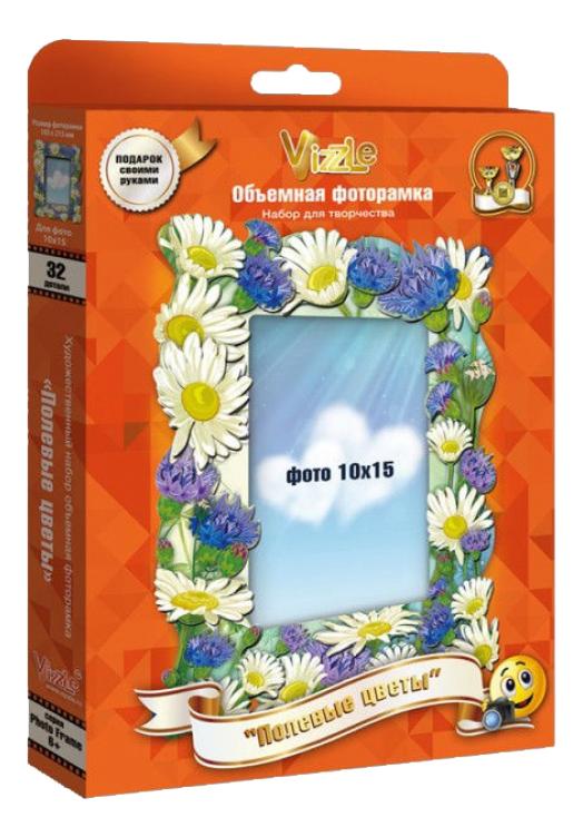 Аппликация из картона Vizzle Полевые цветы