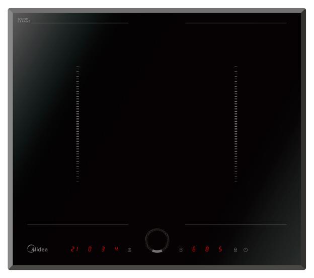 Встраиваемая варочная панель индукционная Midea MIH67838F Black фото