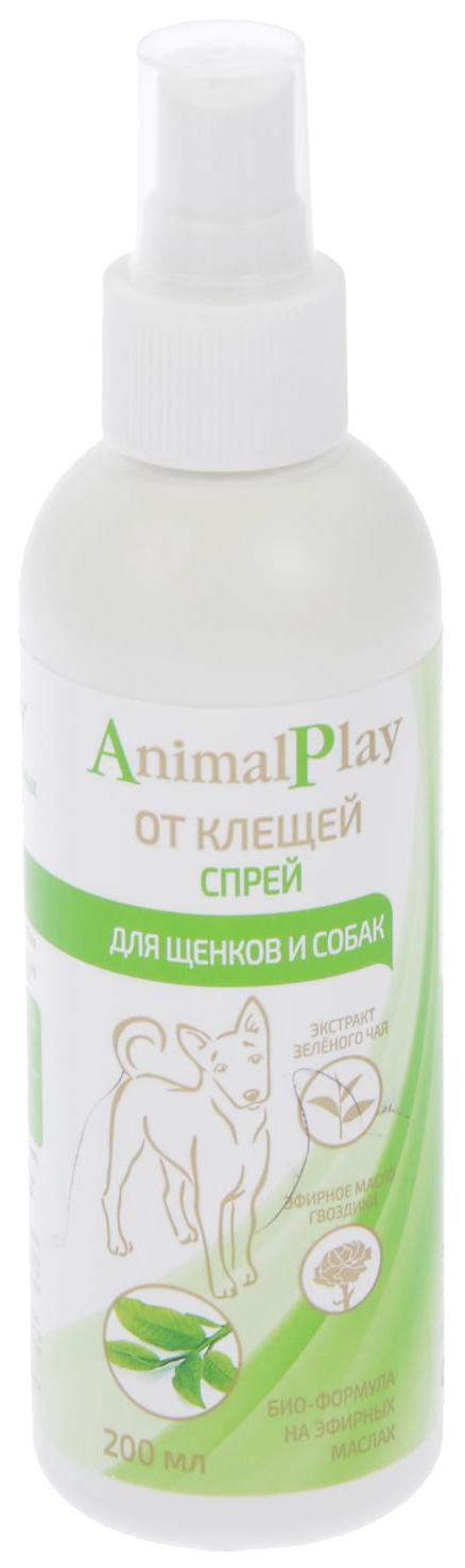 Средства от клещей для домашнего питомца Animal Play для собак спрей флакон