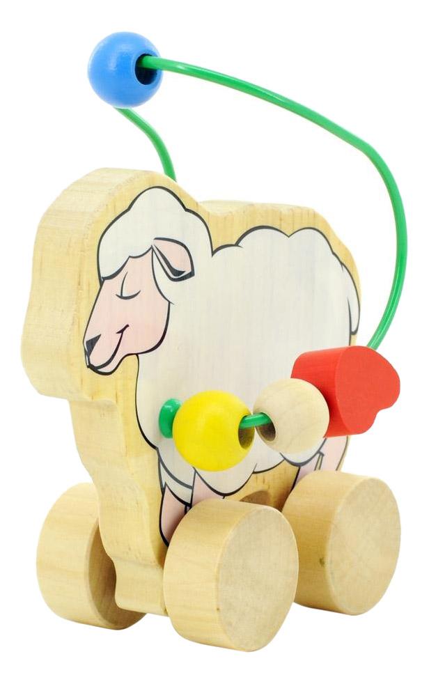 Купить Каталка детская Мир Деревянных Игрушек Овца, Игрушечные машинки
