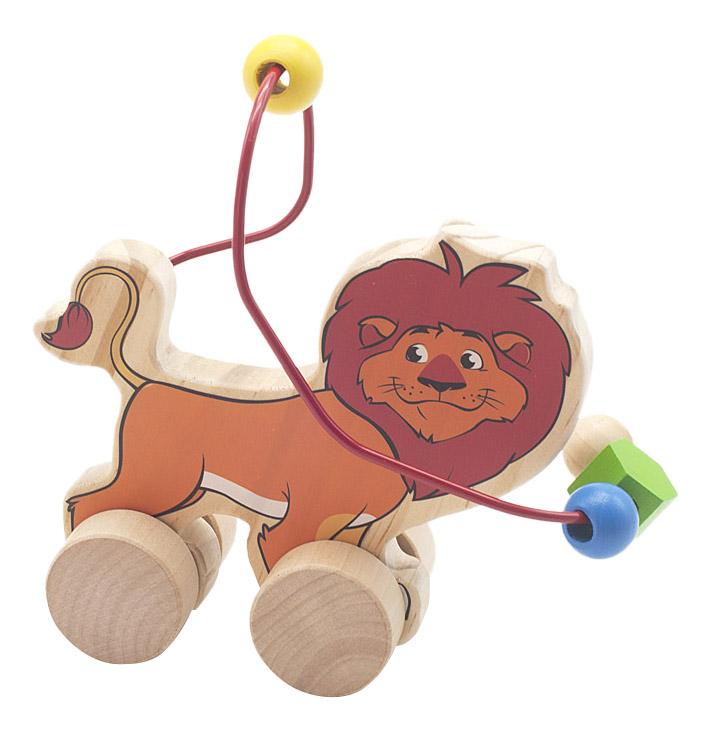 Купить Каталка детская Мир Деревянных Игрушек Лев, Игрушечные машинки