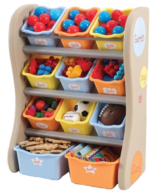 Купить Ящик для игрушек Step 2 Fun Time Room Organizer 728900 синий оранжевый, Ящики для хранения игрушек