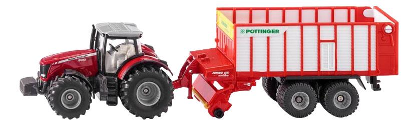 Купить Спецтехника Siku Трактор Massey Ferguson с кузовом Poettinger Jumbo, Строительная техника