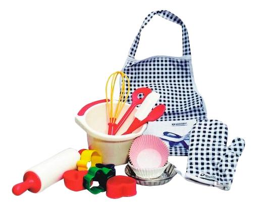 Набор посуды игрушечный Spielstabil Кулинар с прихваткой и фартуком