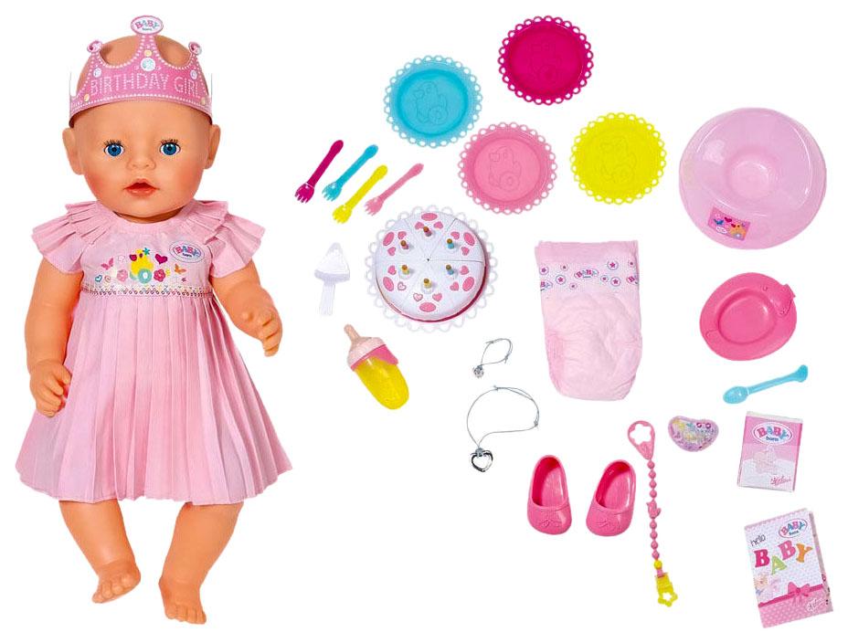 Купить Интерактивная кукла Zapf Creation Baby born Нарядная с тортом 825-129,