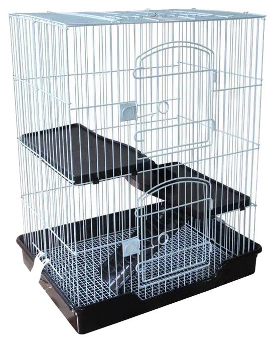 Клетка для крыс, морских свинок, мышей, хомяков Triol С5-1W, черно-белая, 77х46х61см