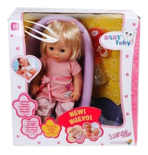 Кукла Shenzhen toys baby toby в ванночке 30 см Shenzhen toys Д42010 фото