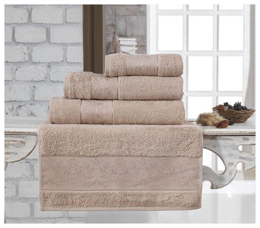 Банное полотенце, полотенце универсальное KARNA бежевый