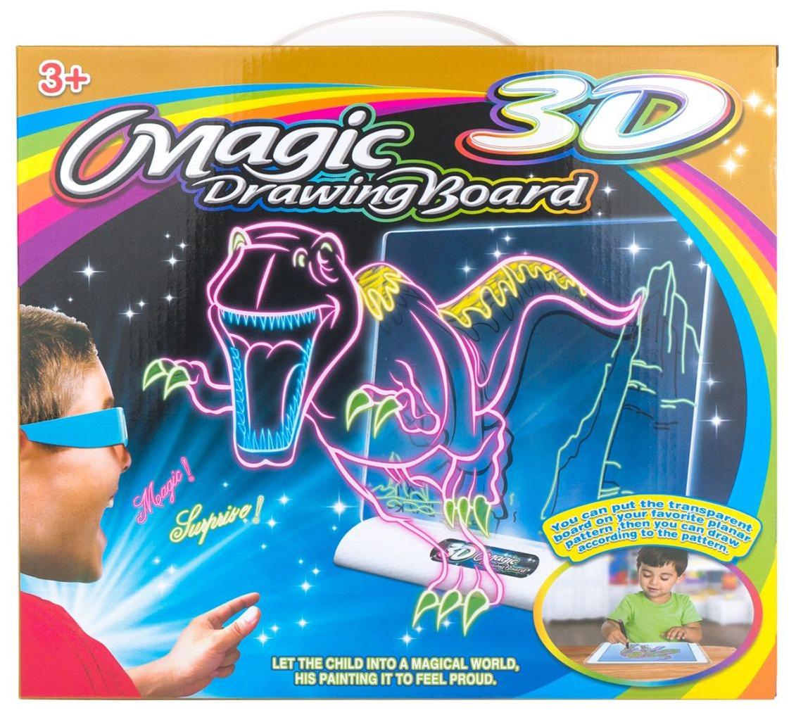 Купить Magic 3d board, динозавры, Магическая Yi Ma Toys 3D-доска для рисования Magic 3D Board. Динозавры , YiMa Toys, Доска для рисования