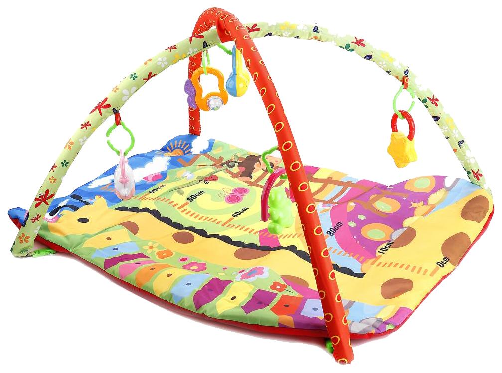 Купить Развивающая игрушка Умка Коврик детский Жирафик ростомер с игрушками 1609M103-R, Развивающие игрушки