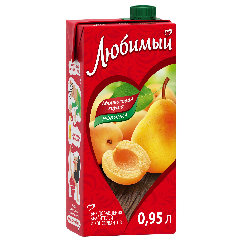 Напиток сокосодержащий Любимый абрикосовая груша 0.95 л фото
