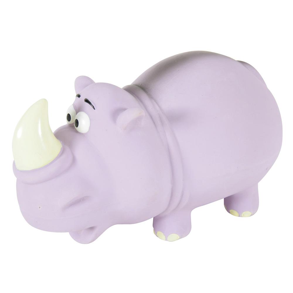Игрушка пищалка для собак ZOLUX Носорог, фиолетовый,