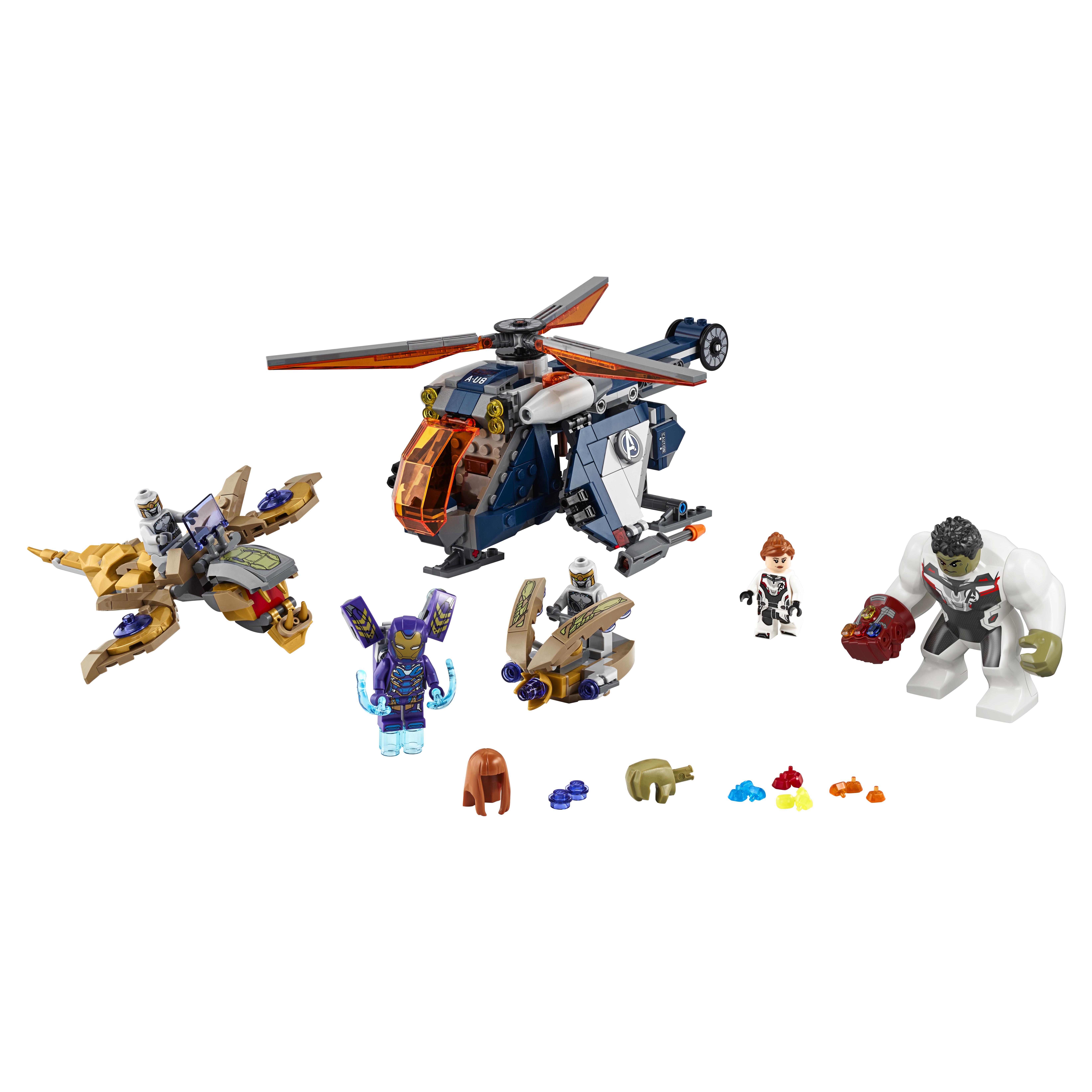 Купить Конструктор LEGO Marvel Super 76144 Мстители: Спасение Халка на вертолете, LEGO для девочек