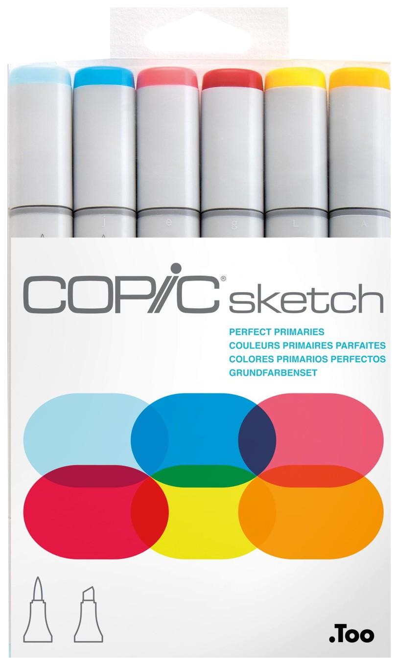 Набор маркеров Copic «Sketch. Основные цвета» 6 цветов
