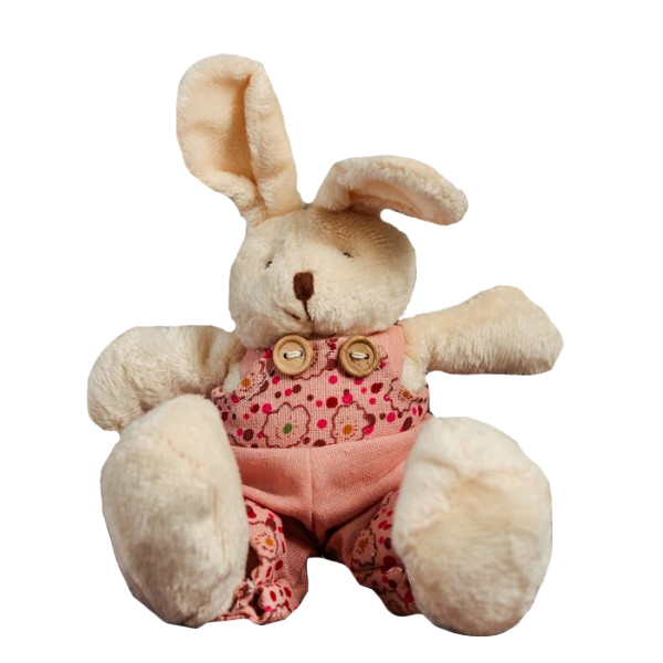 Мягкая игрушка Sima-Land Зайка розовый костюм 4243996