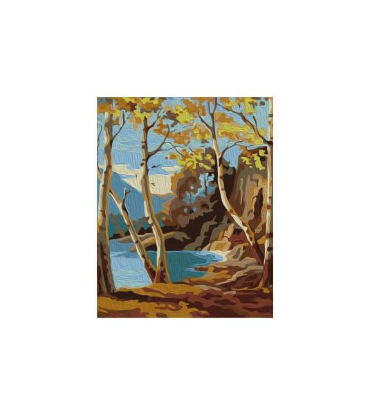 Купить Набор для рисования Артвентура Роспись по холсту Тихий берег, NoBrand, Наборы для рисования