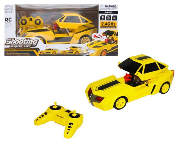 Купить Машина р/у Shooting Super Car (на аккум., свет, звук, стреляет), NoBrand, Радиоуправляемые машинки