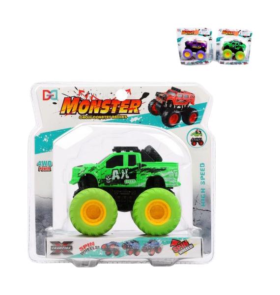 Машина инерционная с 4-мя ведущими колесами, съемный кузов, блистер, в ассортименте