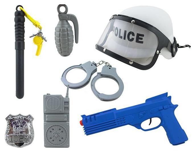 Купить Игровой набор S+S Toys Полицейский 8 предметов, Детские наборы полицейского