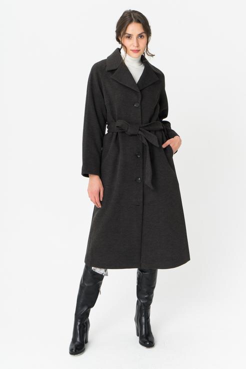 Пальто женское Y.A.S 26017607 серое S.