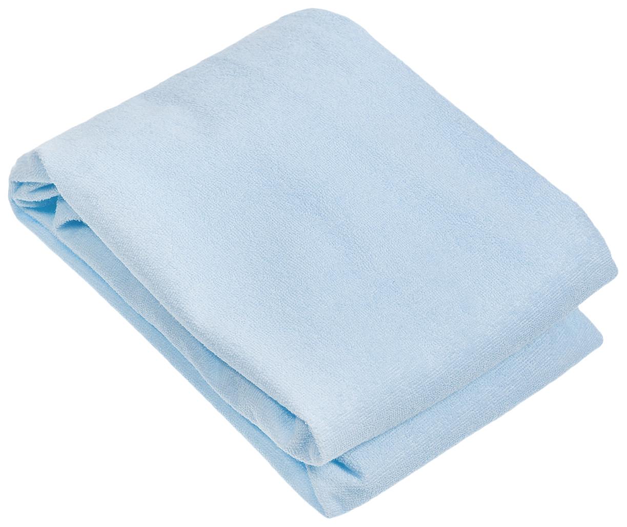 Наматрасник для круглой кроватки Baby Nice, голубой