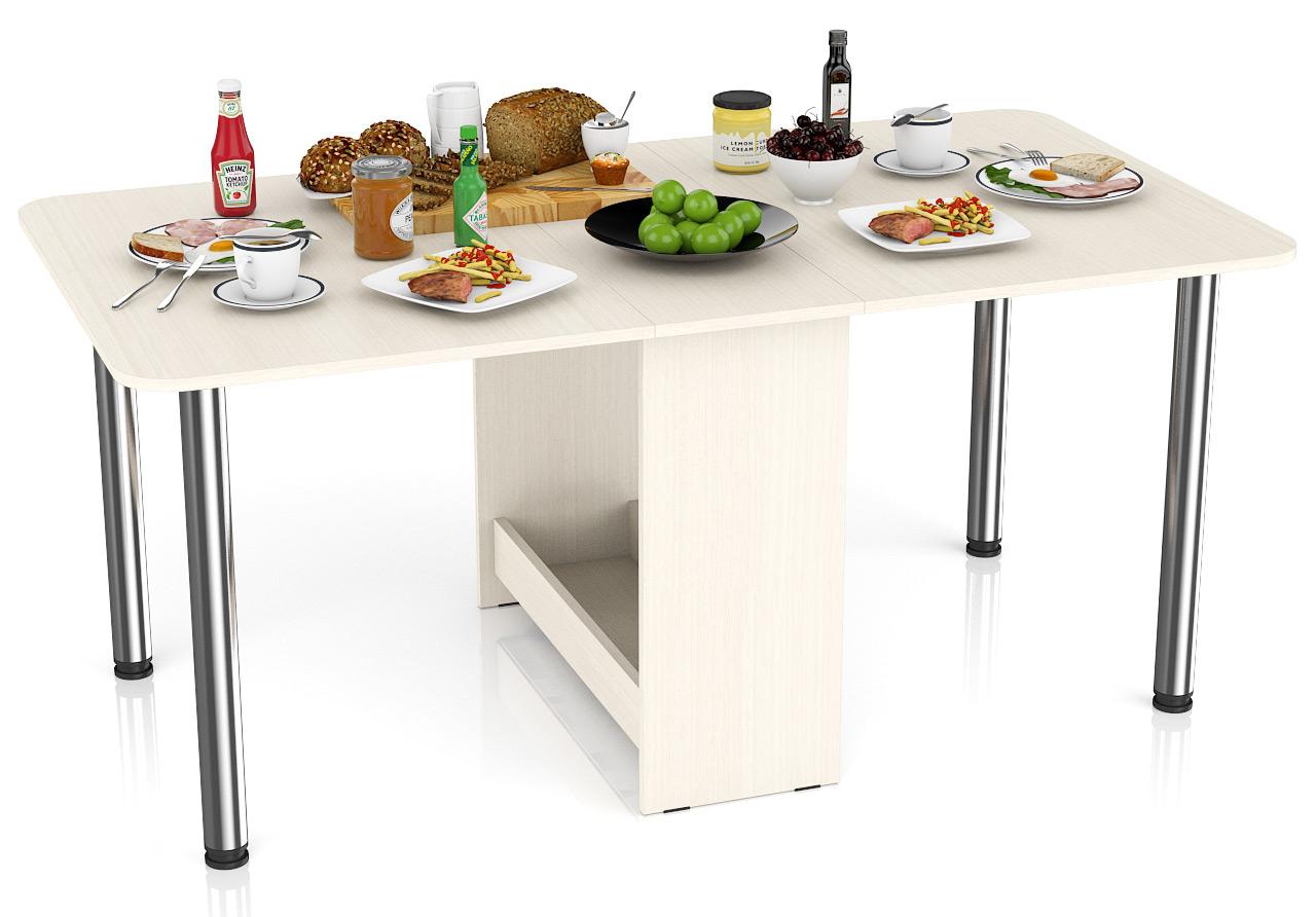 Кухонный стол Мебельный Двор Стол-книжка обеденный СО-04 дуб 170х90х74 см дуб фото