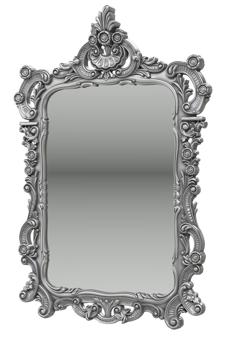 Зеркало Мэри-Мебель ЗК-01, цвет серебро, 70х8х106 см. фото