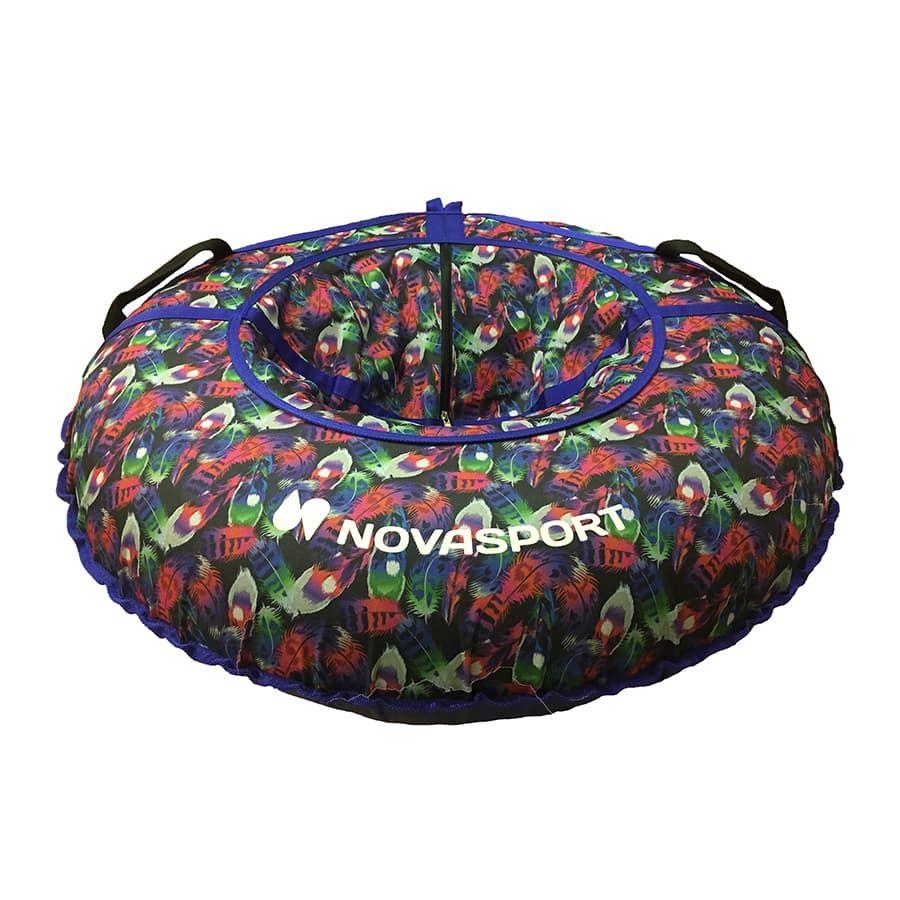 Купить Тюбинг NovaSport 90 см тент без камеры CH030.090 фиолетовый/разноцветные звезды, Тюбинги