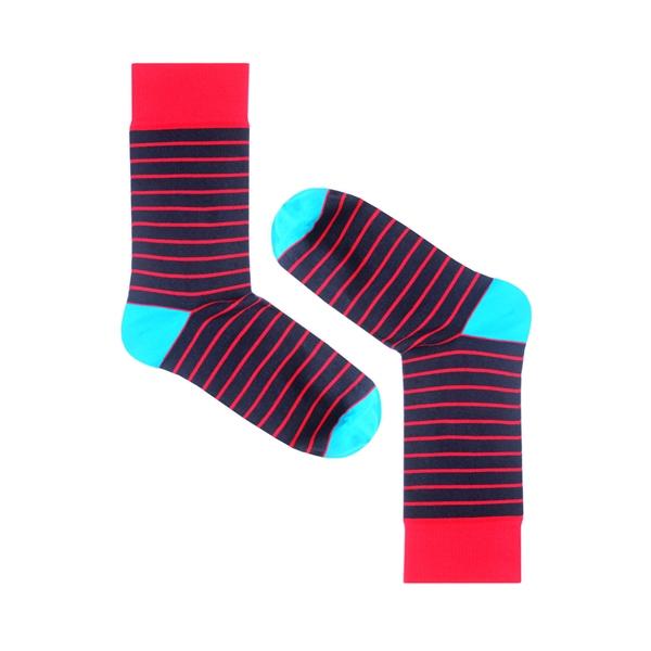 Носки унисекс Burning heels Тонкая полоса разноцветные 39-41