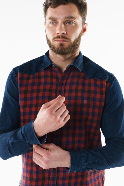 Рубашка мужская Sahera Rahmani 9011541-42 красная XL