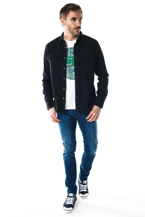 Рубашка мужская Lee L643KBGL черная S