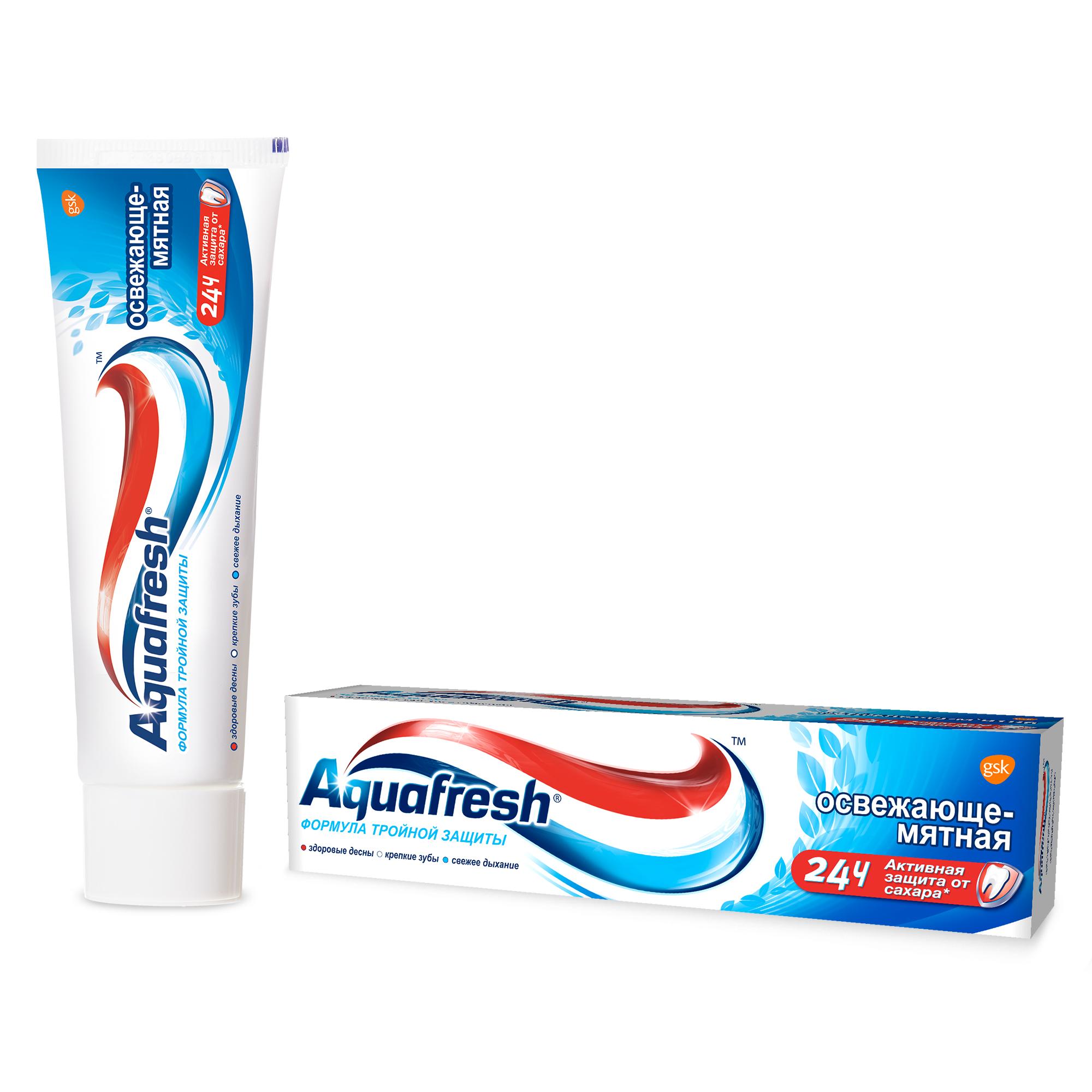 Зубная паста Aquafresh Тройная защита Освежающе-мятная, 50 мл
