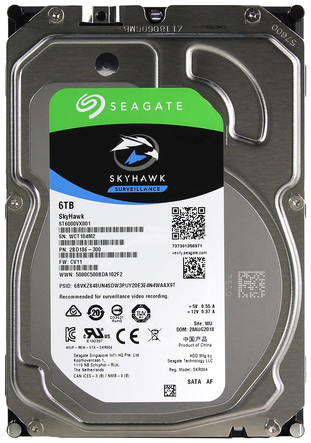 Внутренний жесткий диск Seagate Skyhawk 6TB (ST6000VX001)