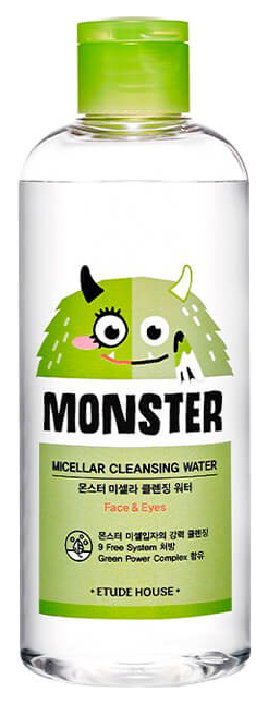 Мицеллярная вода Etude House Monster Micellar Cleansing Water