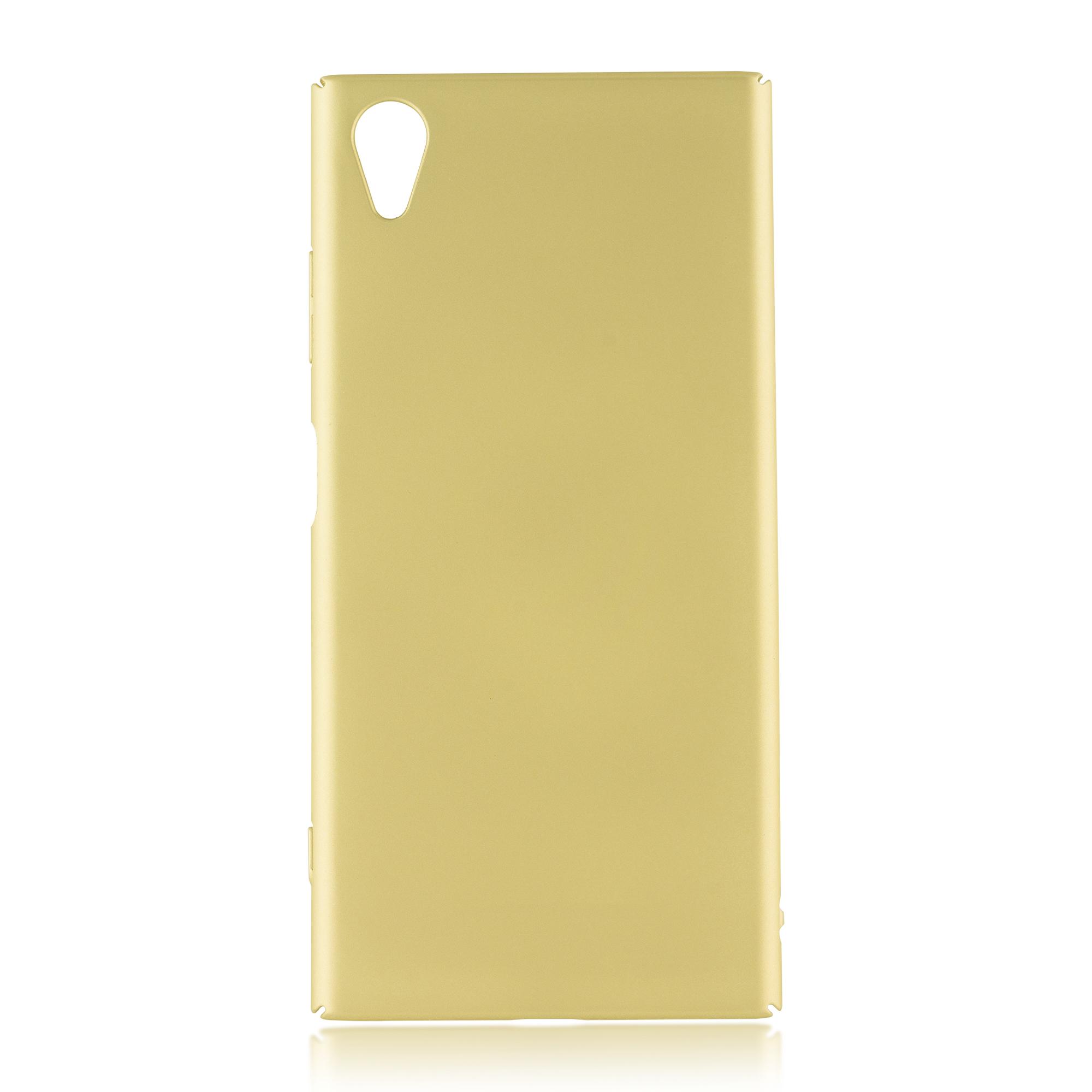 Накладка Brosco Soft-touch для Sony Xperia XA1 Plus, золотая