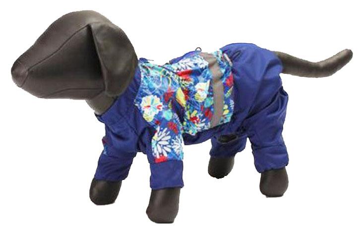 Дождевик для собак Зоо Фортуна размер S мужской, синий, длина спины 25 см