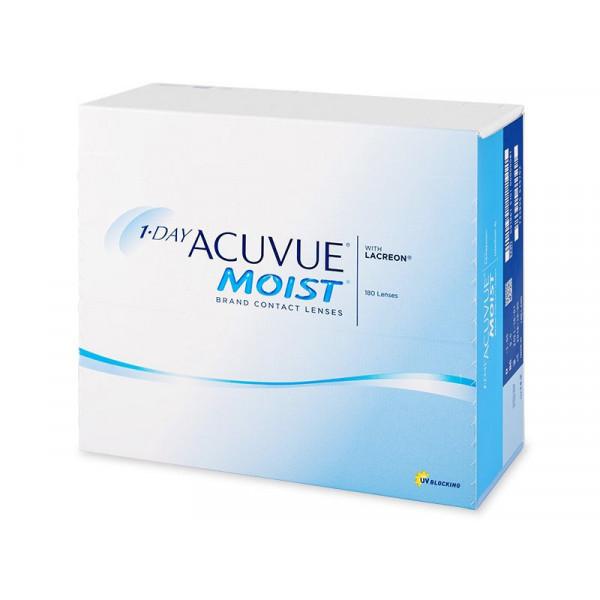 Контактные линзы 1-Day Acuvue Moist 180 линз R 9,0 -0,75
