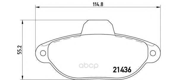 Тормозные колодки дисковые brembo P23096