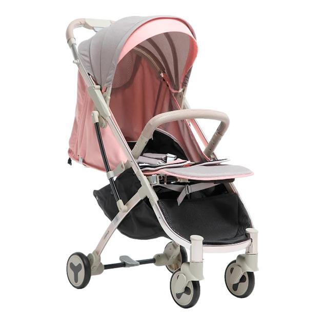 Купить Прогулочная коляска Farfello S600 серо-розовый, Коляски книжки